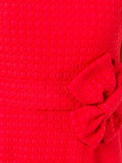 Приталенное Платье С Бантом BOUTIQUE MOSCHINO                                                                                                              красный цвет
