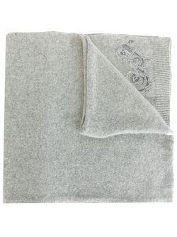 Трикотажный Шарф С Вышивкой Ermanno Scervino                                                                                                              серый цвет