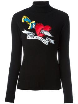 Свитер С Нашивкой Love Moschino                                                                                                              черный цвет