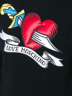 Свитер С Нашивкой Love Moschino                                                                                                              чёрный цвет