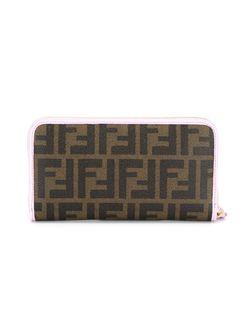 Кошелек С Принтом Логотипа Ff Fendi                                                                                                              коричневый цвет