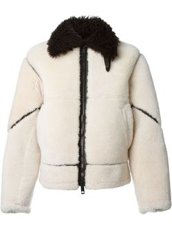 Куртка-Бомбер Из Овчины Burberry Brit                                                                                                              коричневый цвет
