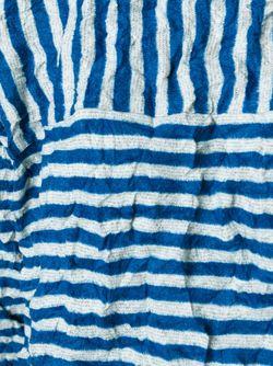 Полосатый Топ С Эффектом Помятости Issey Miyake Cauliflower                                                                                                              синий цвет