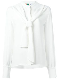 Блузка С Завязкой На Бант MSGM                                                                                                              белый цвет