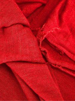 Широкий Шарф Faliero Sarti                                                                                                              красный цвет