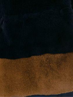 Полушубок С Контрастным Подолом Blancha                                                                                                              синий цвет