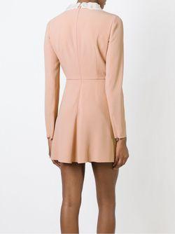 Расклешенное Платье С Контрастным Воротником Red Valentino                                                                                                              Nude & Neutrals цвет