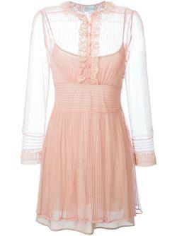 Кружевное Платье Red Valentino                                                                                                              розовый цвет