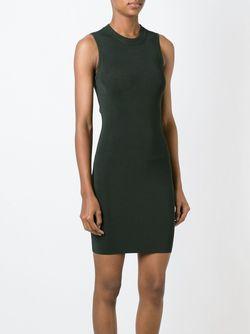 Приталенное Трикотажное Платье T By Alexander Wang                                                                                                              зелёный цвет