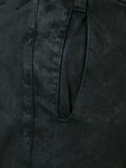 Шорты С Потертой Отделкой 11 BY BORIS BIDJAN SABERI                                                                                                              черный цвет