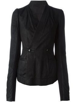 Двубортный Пиджак Rick Owens                                                                                                              чёрный цвет