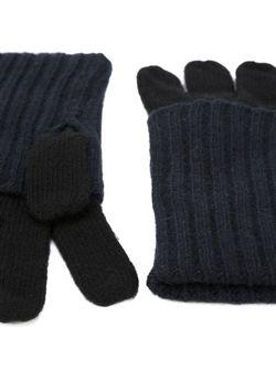 Перчатки С Отворотными Манжетами В Рубчик Gala                                                                                                              синий цвет