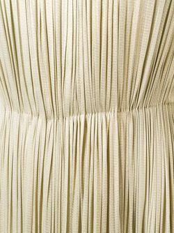 Плиссированное Платье С Отделкой Металлик Maria Lucia Hohan                                                                                                              Nude & Neutrals цвет