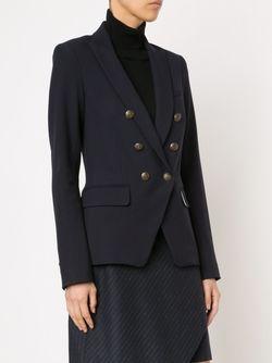 Двубортный Пиджак Veronica Beard                                                                                                              синий цвет