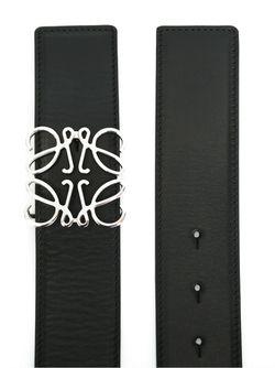 Ремень С Пряжкой-Анаграммой Loewe                                                                                                              чёрный цвет