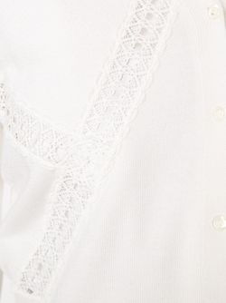 Укороченный Кардиган С Ажурными Вставками Oscar de la Renta                                                                                                              белый цвет