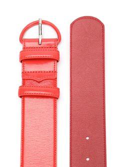 Широкий Ремень С D-Образным Ремешком Oscar de la Renta                                                                                                              красный цвет