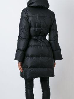 Belted Padded Coat Ermanno Scervino                                                                                                              чёрный цвет