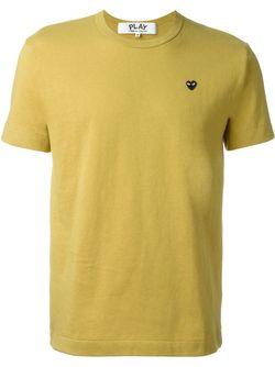 Футболка С Круглым Вырезом Comme Des Garcons                                                                                                              желтый цвет