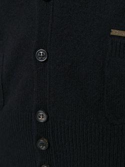 Кардиган С V-Образным Вырезом Dsquared2                                                                                                              черный цвет
