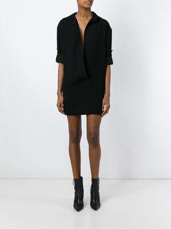 Короткое Платье-Блузка Alexandre Vauthier                                                                                                              чёрный цвет