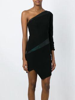 Асимметричное Платье На Одно Плечо Alexandre Vauthier                                                                                                              черный цвет