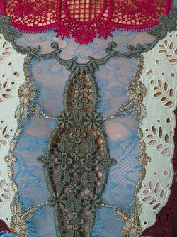 Свитер С Кружевной Панелью Valentino                                                                                                              красный цвет
