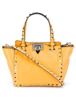 Rockstud Mini Tote Valentino Garavani                                                                                                              желтый цвет