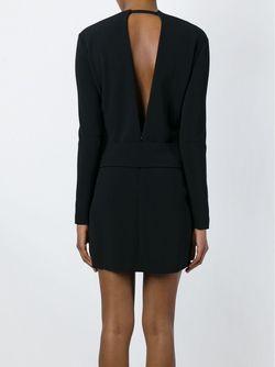 Приталенное Платье С V-Образным Вырезом На Спине Tom Ford                                                                                                              черный цвет
