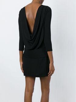 Платье С Драпировкой На Спине Tom Ford                                                                                                              чёрный цвет