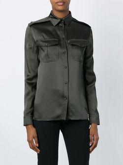 Классическая Атласная Рубашка Tom Ford                                                                                                              зелёный цвет