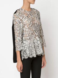 Кружевная Блузка С Цветочным Узором Preen By Thornton Bregazzi                                                                                                              черный цвет