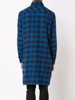 Длинная Фланелевая Рубашка В Клетку Vivienne Westwood                                                                                                              синий цвет