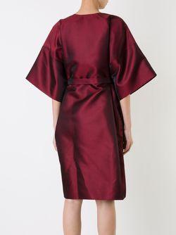 Платье С Поясом И Широкими Рукавами Iris Van Herpen                                                                                                              красный цвет