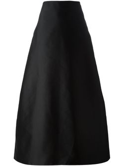 Юбка А-Силуэта С Плиссировкой Сзади Alberta Ferretti                                                                                                              чёрный цвет