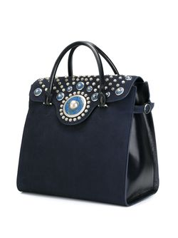 Сумка-Тоут Embellished Carpet Bag Tory Burch                                                                                                              синий цвет