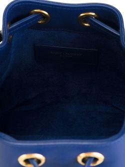 Маленькая Сумка-Мешок Emmanuelle Saint Laurent                                                                                                              синий цвет