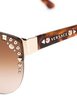 Солнцезащитные Очки С Заклепками Versace                                                                                                              черный цвет