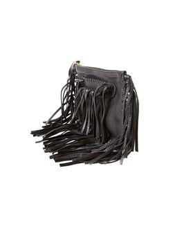 Маленький Клатч С Бахромой Valentino Garavani                                                                                                              черный цвет