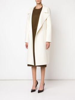 Двубортное Пальто С Контрастными Пуговицами Maison Rabih Kayrouz                                                                                                              белый цвет
