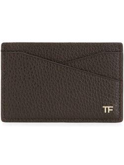 Визитница С Двумя Отделениями Для Карточек Tom Ford                                                                                                              коричневый цвет