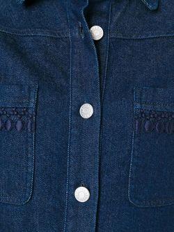 Джинсовая Рубашка See By Chloe                                                                                                              синий цвет