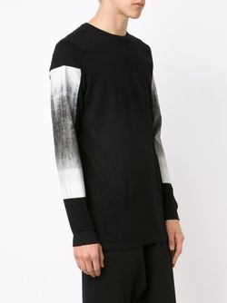 Panel Printed Sleeve Sweatshirt STAMPD                                                                                                              чёрный цвет
