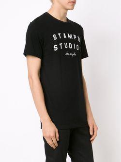 Футболка С Принтом Логотипа STAMPD                                                                                                              черный цвет