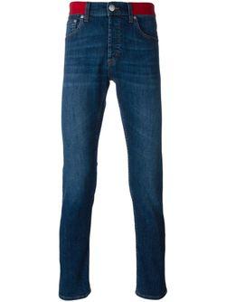 Джинсы С Контрастным Эластичным Поясом Alexander McQueen                                                                                                              синий цвет