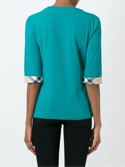 Three-Quarter Sleeve T-Shirt Burberry Brit                                                                                                              синий цвет