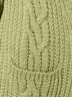 Кардиган Вязки Косичкой Roberto Collina                                                                                                              зелёный цвет