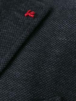 Плетеный Пиджак В Стиле Casual Isaia                                                                                                              серый цвет