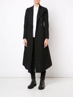 Длинное Расклешенное Пальто A DICIANNOVEVENTITRE                                                                                                              чёрный цвет
