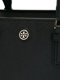 Logo Plaque Small Tote Tory Burch                                                                                                              чёрный цвет